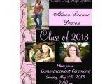 Camo Graduation Invitations Pink Camo Graduation Announcement