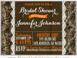 Camo Wedding Invites Camo Bridal Shower Invitation Lace Wedding Hunting