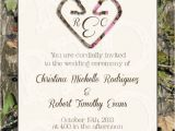 Camo Wedding Invites Camo Deer Hearts Wedding Invitation and Rsvp Card by