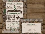 Camo Wedding Invites Camo Wedding Invitation with Rsvp Camo Invite Deer