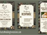Camo Wedding Invites Camo Wedding Invitations Vintage Rustic Wedding Invitations