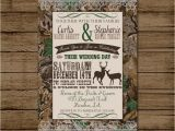 Camo Wedding Invites Customized Wedding Invitation Camo Deer Camouflage Couples