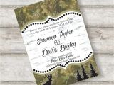 Camo Wedding Invites Free Camo Wedding Invitation Templates Wedding Ideas and
