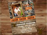 Camouflage Graduation Invitations Camo and orange Graduation Invitation Camo Graduation