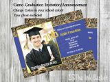 Camouflage Graduation Invitations Graduation Invitation Announcement Camo Style with Your