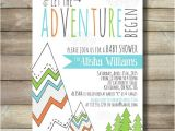Camping themed Baby Shower Invitations Adventure Baby Shower Invite Invitation Boy Mountain Trees