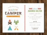 Camping themed Baby Shower Invitations Best 25 Camping Party Invitations Ideas On Pinterest