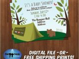 Camping themed Baby Shower Invitations Camping theme Baby Shower Invite 1 Custom by Smoochaldesigns