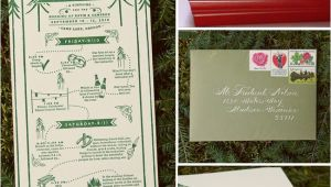 Camping themed Wedding Invitations Real Wedding Katie Cameron 39 S Camp Wedding Green