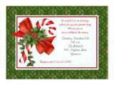 Candy Cane Christmas Party Invitations Candy Cane Holiday Party Invitation
