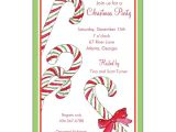 Candy Cane Christmas Party Invitations Candy Canes Christmas Invitations