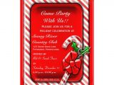 Candy Cane Christmas Party Invitations Peppermint Candy Cane Holiday Party Invitation
