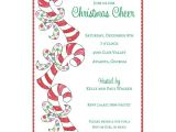 Candy Cane Christmas Party Invitations Sweet Candy Canes Christmas Invitations