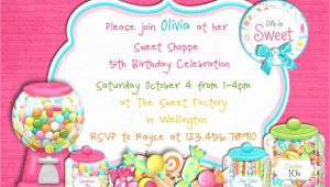 Candy themed Party Invitations Candy themed Birthday Party Invitations Dolanpedia
