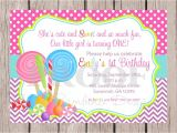 Candy themed Party Invitations Candy themed Invitations Template Best Template Collection