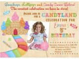 Candyland Birthday Invitation Wording Candyland Birthday Invitations Ideas – Bagvania Free