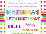 Candyland Birthday Invitation Wording Candyland Birthday Party Invitation Sweets Treats & by