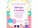 "Candyland Birthday Invitation Wording Candyland Sweet Shoppe Birthday Invitation 5"" X 7"