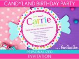 Candyland Birthday Invitation Wording Etsy Your Place to and Sell All Things Handmade