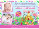 Candyland Birthday Party Invitation Ideas Candyland Birthday Invitations Ideas Bagvania Free