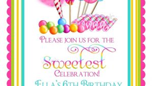 Candyland Birthday Party Invitation Ideas Candyland Invitation Ideas Party Invitations Ideas