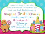 Candyland Birthday Party Invitation Ideas Candyland Invitations Sweet Shop Invitations Sweet Shop