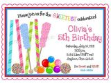 Candyland Birthday Party Invitation Ideas Candyland Party Invitation Wording