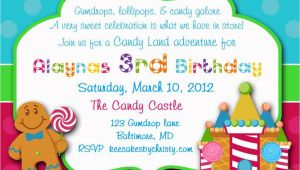Candyland Party Invitation Wording Candyland Baby Shower Invitations Party Xyz