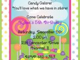 Candyland Party Invitation Wording Candyland Birthday Party Invitations