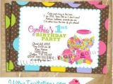 Candyland Party Invitation Wording Candyland Birthday Party Invitations Printable Digital or