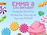 Candyland Party Invitation Wording Candyland Invitation Girls Birthday Invitations Candyland