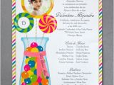 Candyland Quinceanera Invitations Candyland Scroll Invitation