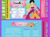 Candyland Quinceanera Invitations Candyland Sweet 16 Invitations Invitations Sweet