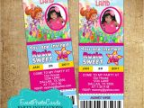 Candyland Quinceanera Invitations Candyland Ticket Photo Invitations 1516 Candy Land Pass