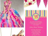 Candyland Quinceanera Invitations Colorful Candyland Quinceanera Sweet Fifteen theme