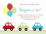 Car theme Birthday Invitation Template Car Birthday Party