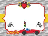 Car theme Birthday Invitation Template Free Printable Race Car Birthday Party Invitations