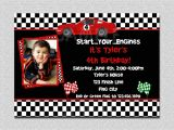 Car theme Birthday Invitation Template Race Car Birthday Invitation Race Car Birthday Party