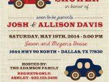 Car themed Baby Shower Invitations Boy Baby Shower Invitation Vintage toys Transportation
