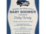 Car themed Baby Shower Invitations Vintage Car Baby Shower Invitation