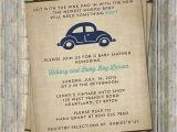 Car themed Baby Shower Invitations Vw Beetle Baby Shower Invitation Volkswagen Car theme