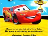 Car themed Birthday Invitation Templates Cars Birthday Party Invitation Wording