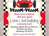 Car themed Birthday Invitation Templates Printable Race Car Birthday Party Invitation