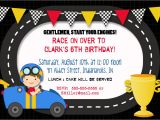Car themed Birthday Invitation Templates Race Car Birthday Invitation 5×7 Printable by Greetings