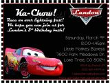 Car themed Birthday Invitation Wording Cars themed Birthday Invitation Printable 12 00 Via