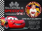 Car themed Birthday Invitation Wording Disney Birthday Invitation Disney Birthday Invitation