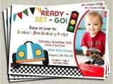 Car themed Birthday Invitation Wording Race Car Birthday Car Birthday and Race Cars On Pinterest