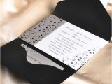 Cards and Pockets Wedding Invitations Affordable Black and White Pocket Wedding Invitation Cards