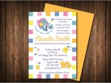 Care Bear Baby Shower Invitations Baby Shower Invitation Care Bear theme Gender by