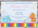 Care Bear Baby Shower Invitations Care Bear Baby Shower Invitation